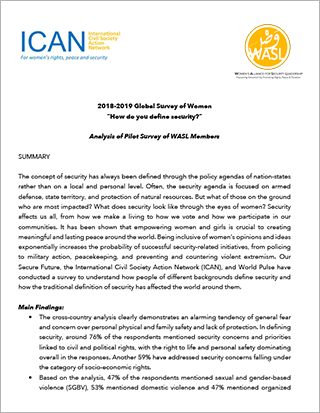 ICAN analysis of WPS Global Survey