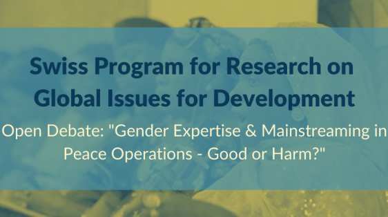 Switzerland, Gender, Peacebuilding, R4D Programme, WPS, Women Peace Security, SWISSINT, Swiss Institute for Global Affairs