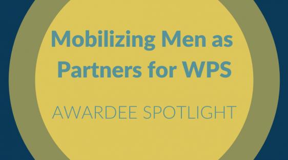 Mobilizing Men As Partners for WPS