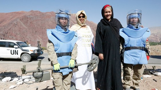 Women Afghanistan peace security mines