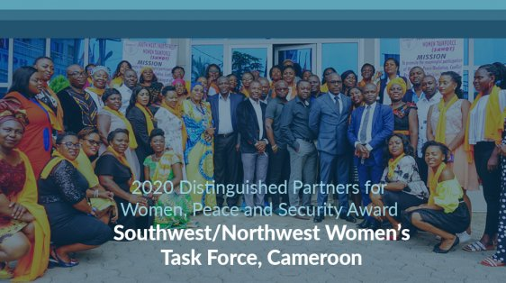 Southwest/Northwest Women's Task Force, Cameroon Distinguished Partners WPS