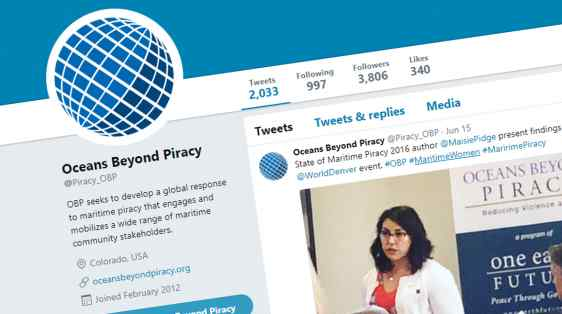 Oceans Beyond Piracy twitter engages maritime women