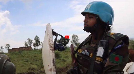 UN peacekeeping parity women front line video