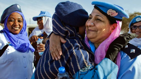 Women Peacekeepers and police International Women's Day
