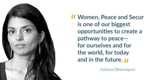 Sahana Dharmapuri Women Peace Security 2019