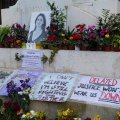 memorial to murdered journalist Daphne Caruana Galizia