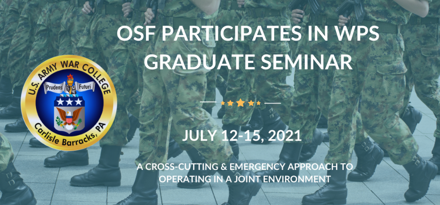 US Army War College, WPS Seminar, WPS Foreign Policy,