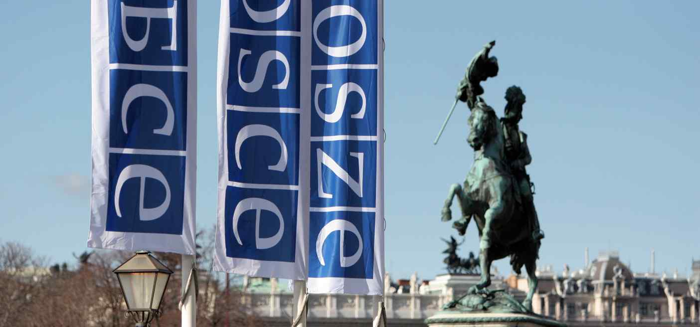 OSCE flags in Vienna, Photo by OSCE/Sarah Crozier