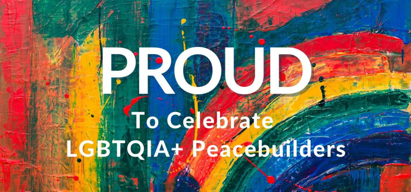 """Large, colorful image of the word """"PROUD"""""""