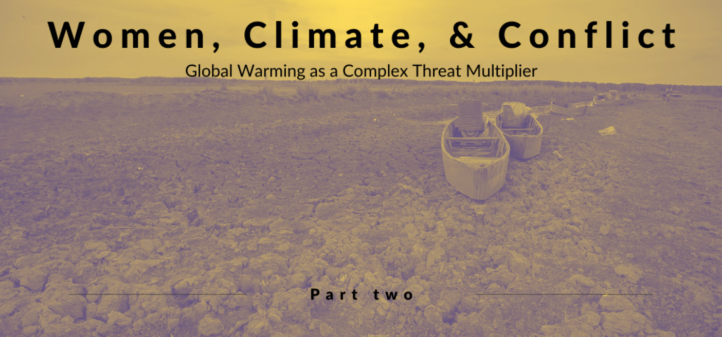 climate change; women; gender; women peace and security; wps; global warming; sgbv; Syria; threat multiplier;