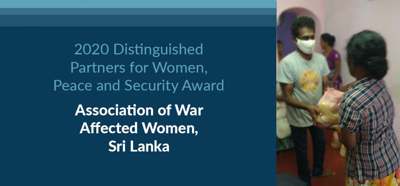 Distinguished Women Award Association of War Affected women sri lanka