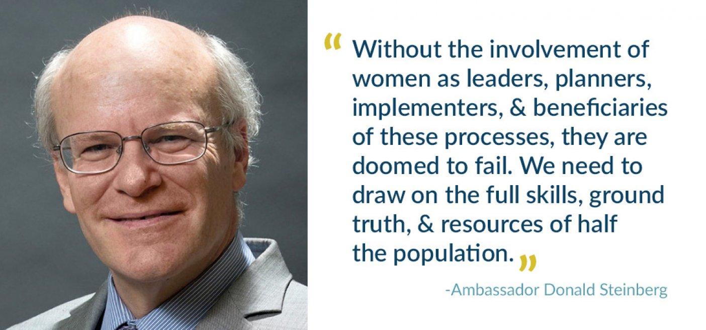 Donald Steinberg quote