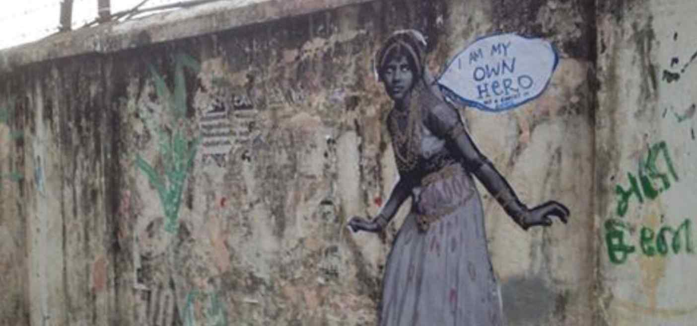 Fearless Collective, Conquer the Concrete Street Art Installation, Chennai, India