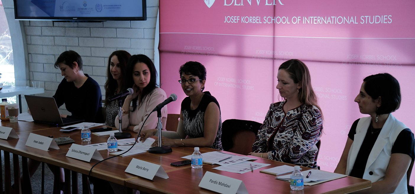 panel at female activism event denver international day of peace