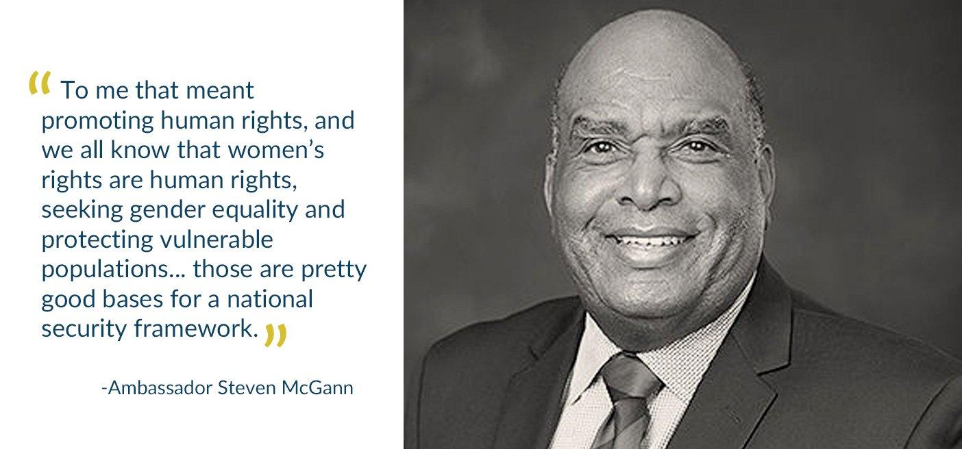 Ambassador Steve McGann women's rights