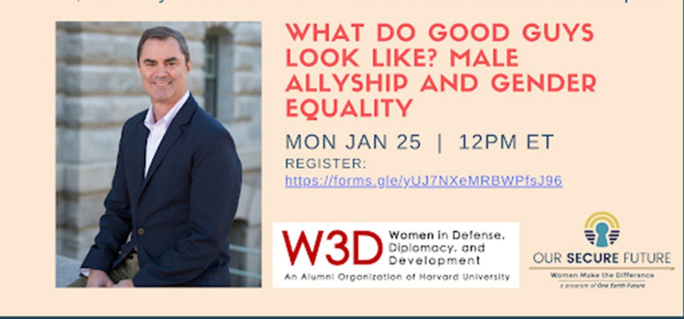 Harvard W3D event male allies WPS