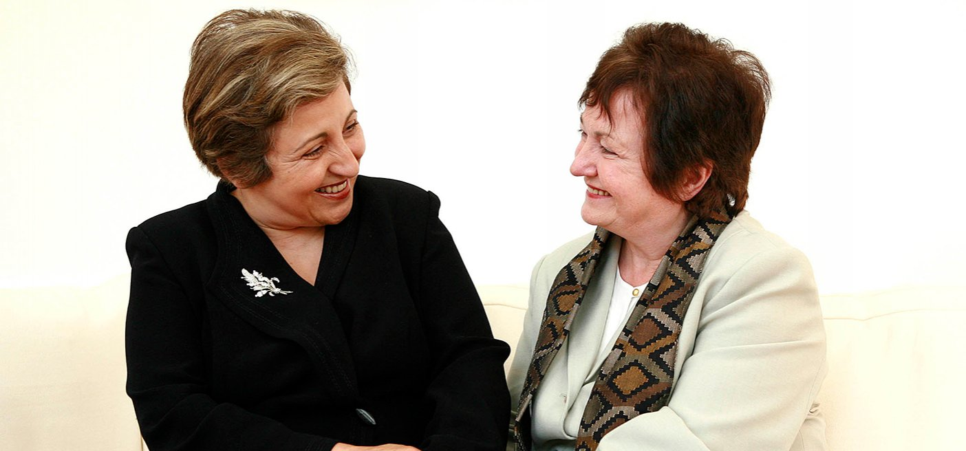 Nobel Laureates Shirin Ebadi and Mairead Corrigan Maguire