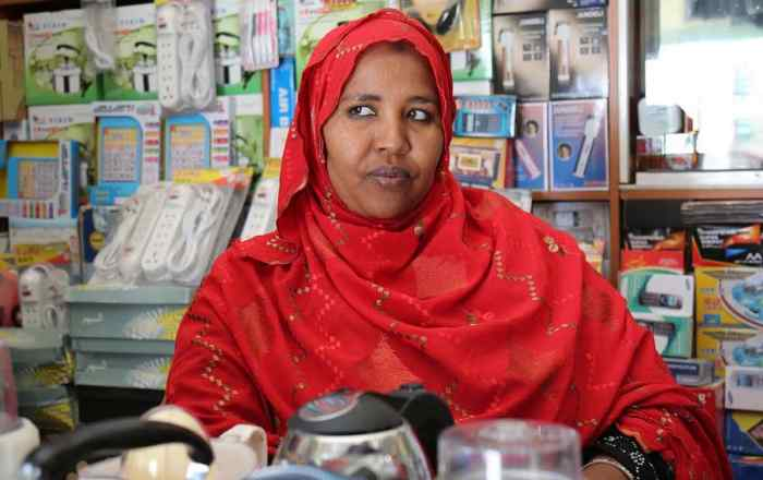 A shopkeeper in Hargeisa, Somaliland