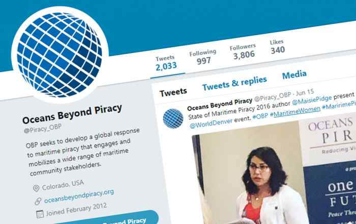 Oceans Beyond Piracy twitter engages maritime women