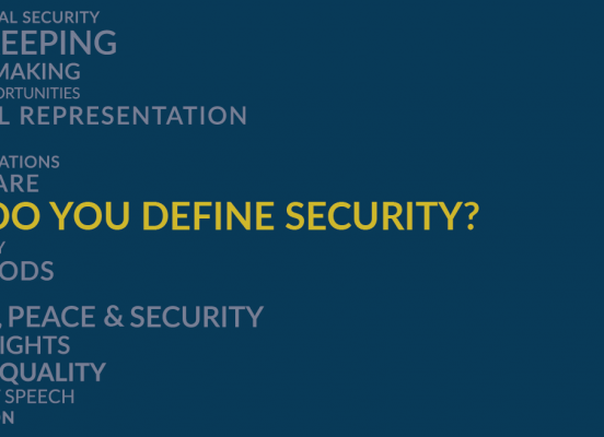 How do you Define security- polling question