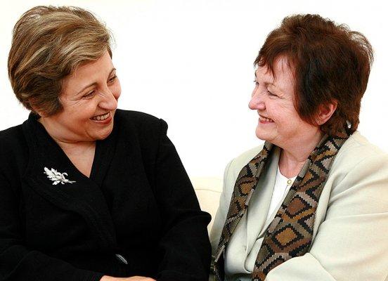 Nobel Laureates Shirin Ebadi and Mairead Corrigan Maguire