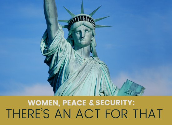 women peace and security act united states