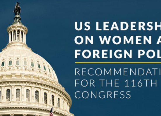 recommendations for 116th congress women foreign policy
