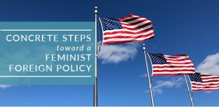 american flags US foreign policy feminist