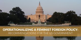 Feminist Foreign policy US government recommendations